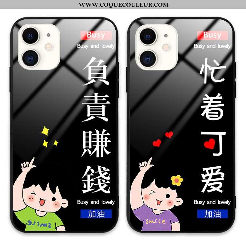 Étui iPhone 12 Mini Tendance Incassable Dessin Animé, Coque iPhone 12 Mini Protection Tout Compris N