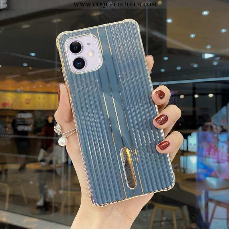 Étui iPhone 12 Mini Silicone Couleur Unie Tout Compris, Coque iPhone 12 Mini Personnalité Simple Ble
