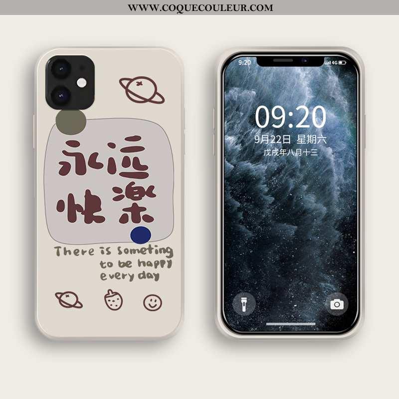 Coque iPhone 12 Mini Protection Tout Compris Blanc, Housse iPhone 12 Mini Fluide Doux Silicone Blanc