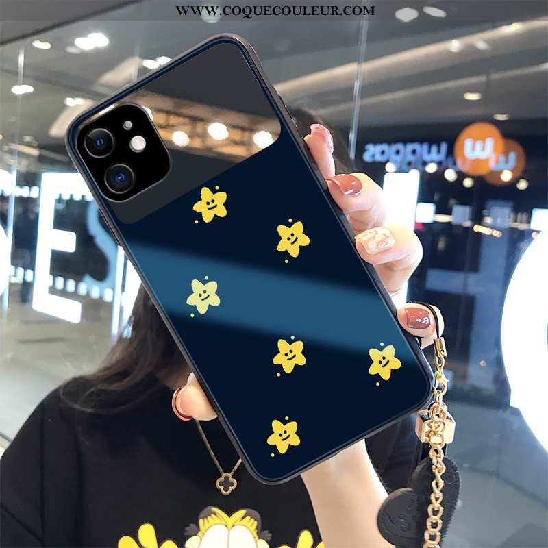 Étui iPhone 12 Mini Mode Personnalité Ornements Suspendus, Coque iPhone 12 Mini Luxe Frais Bleu