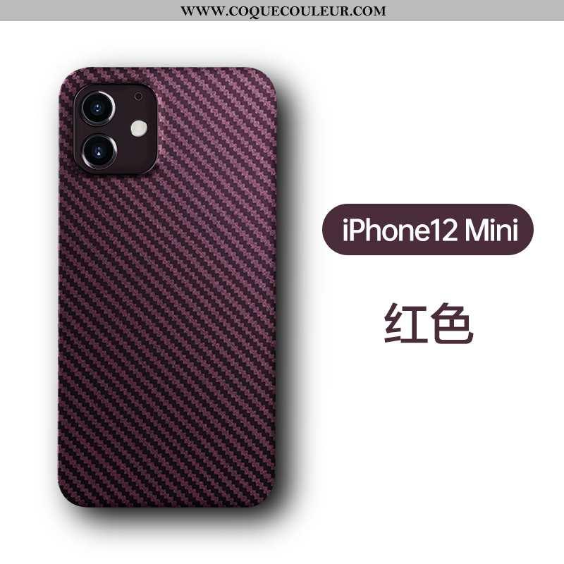 Coque iPhone 12 Mini Personnalité Rouge, Housse iPhone 12 Mini Créatif Incassable Rouge