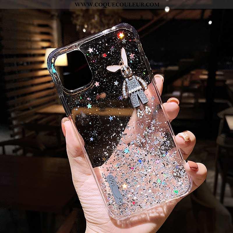 Coque iPhone 12 Pro Max Transparent Luxe Incassable, Housse iPhone 12 Pro Max Personnalité Étui Blan
