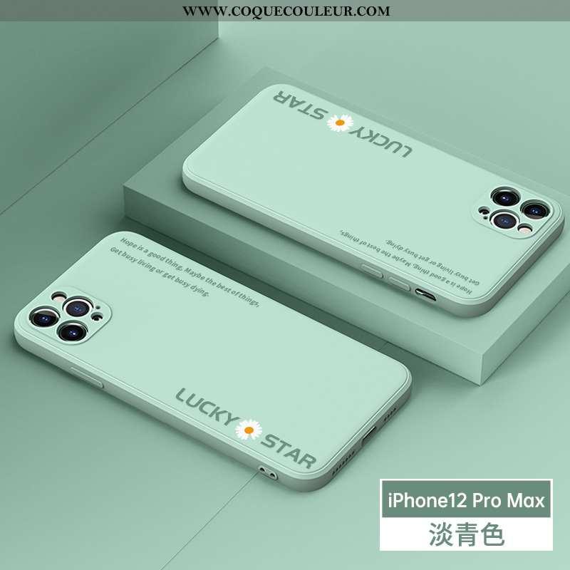 Coque iPhone 12 Pro Max Fluide Doux Incassable Téléphone Portable, Housse iPhone 12 Pro Max Silicone