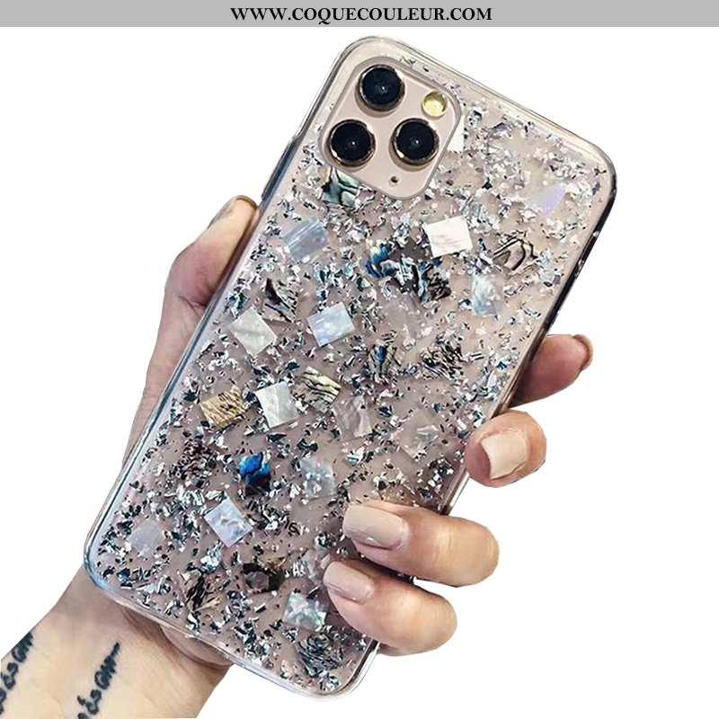 Étui iPhone 12 Pro Max Transparent Luxe Créatif, Coque iPhone 12 Pro Max Personnalité Argent