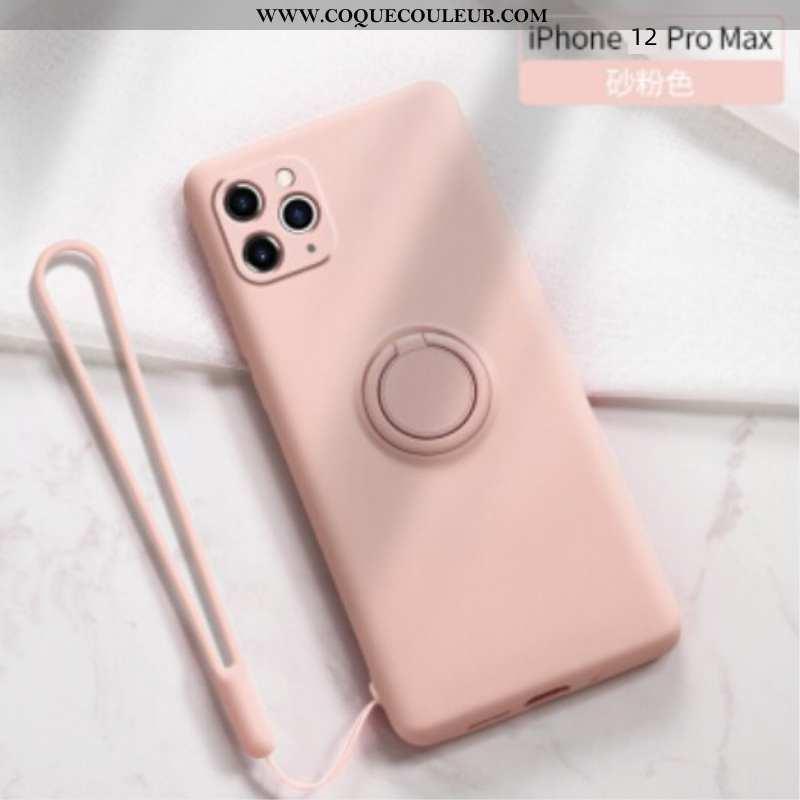 Étui iPhone 12 Pro Max Silicone Coque Incassable, iPhone 12 Pro Max Personnalité Rose