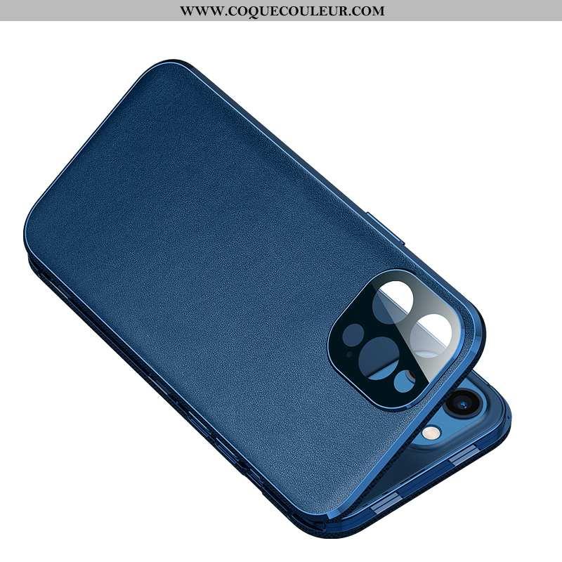 Coque iPhone 12 Pro Max Protection Légère Nouveau, Housse iPhone 12 Pro Max Métal Bleu