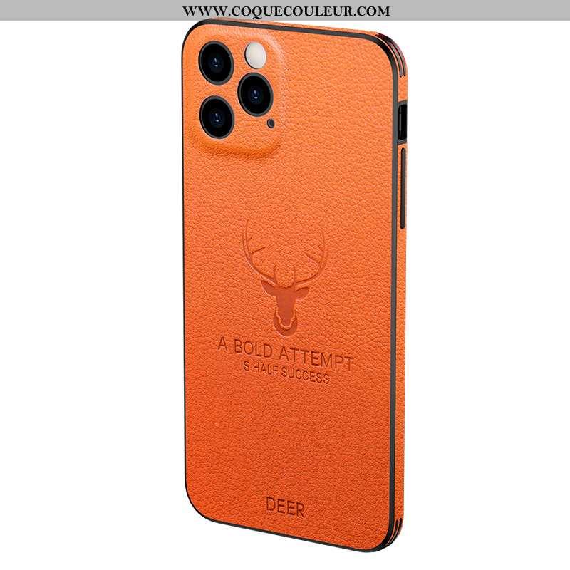 Étui iPhone 12 Pro Légère Personnalité Créatif, Coque iPhone 12 Pro Silicone Orange
