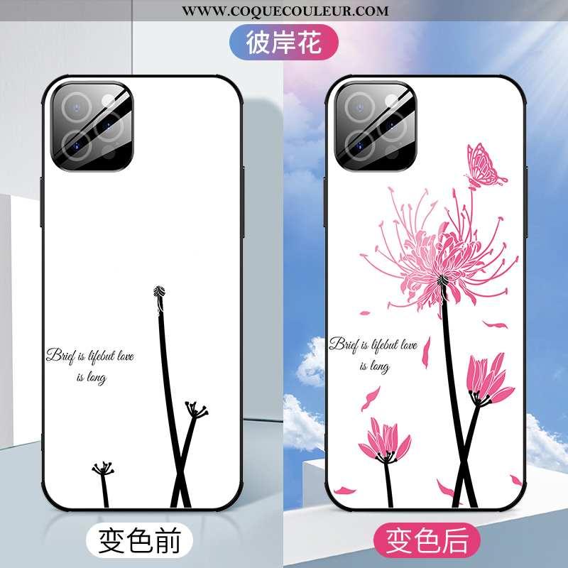 Coque iPhone 12 Pro Créatif Téléphone Portable Net Rouge, Housse iPhone 12 Pro Ultra Luxe Blanche