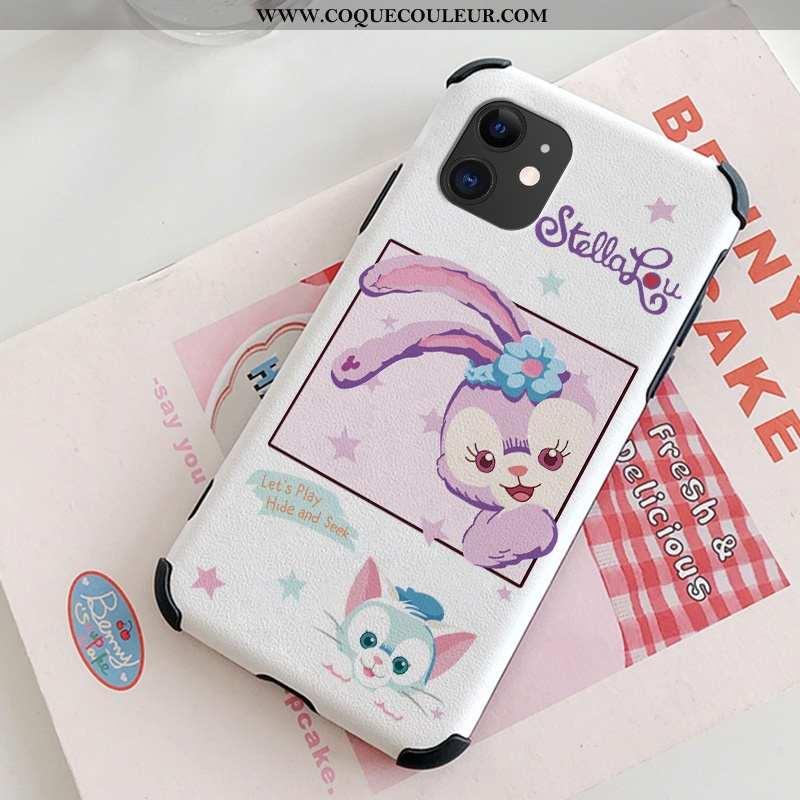 Étui iPhone 12 Légère Incassable Soie Mulberry, Coque iPhone 12 Cuir Gaufrage Rose