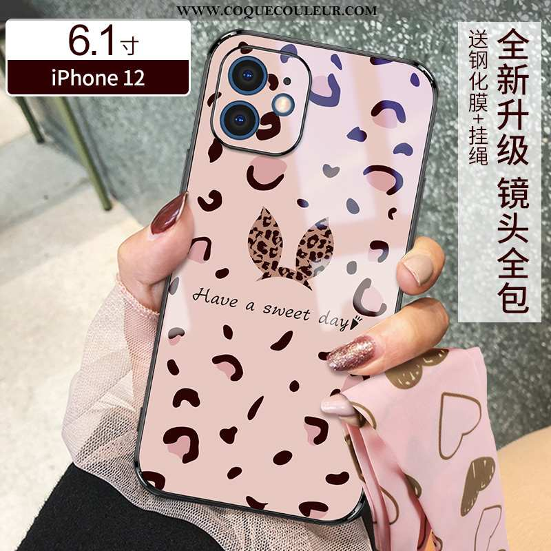 Étui iPhone 12 Ultra Rose Tout Compris, Coque iPhone 12 Légère