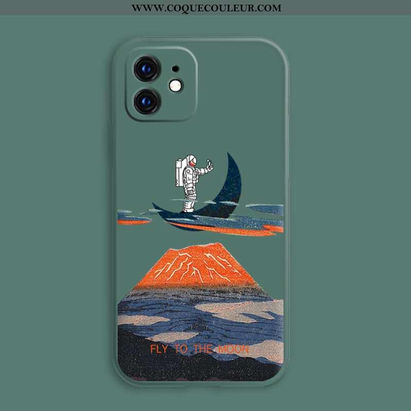 Coque iPhone 12 Ultra Mois Légère, Housse iPhone 12 Tendance Téléphone Portable Verte
