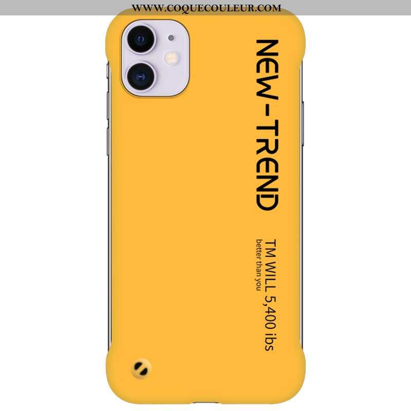 Étui iPhone 12 Créatif Jaune Personnalité, Coque iPhone 12 Ultra Border